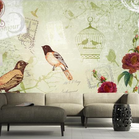 Fotótapéta - Vintage birds