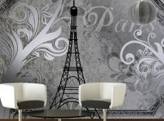 Fotótapéta - Vintage Paris - silver