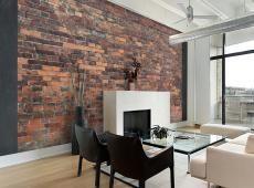 Fotótapéta - Vintage Wall (Red Brick)