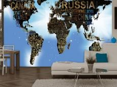 Fotótapéta - World Map - Blue Inspiration