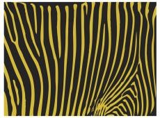 Fotótapéta - Zebra pattern (yellow)