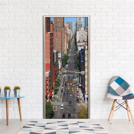 Fotótapéta ajtóra - City Life
