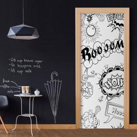 Fotótapéta ajtóra - Comic Style