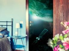 Fotótapéta ajtóra - Green Galaxy