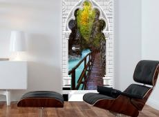 Fotótapéta ajtóra - Photo wallpaper - Arch and wooden path I