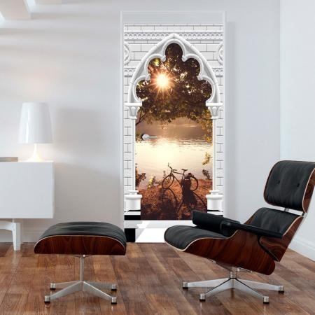 Fotótapéta ajtóra - Photo wallpaper - Gothic arch and lake I