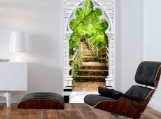 Fotótapéta ajtóra - Photo wallpaper - Gothic arch and stone staircase I