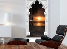 Fotótapéta ajtóra - Photo wallpaper - Gothic arch and sunset I
