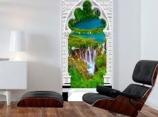 Fotótapéta ajtóra - Photo wallpaper - Gothic arch and waterfall I