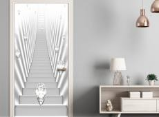 Fotótapéta ajtóra - Photo wallpaper - White stairs and jewels I