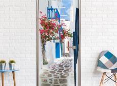 Fotótapéta ajtóra - Walk through Santorini