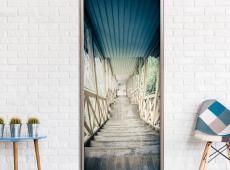 Fotótapéta ajtóra - Wooden Vintage Stairway