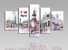 I love Sopron vászonkép-S