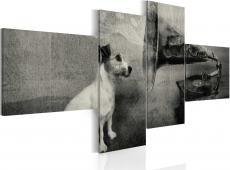 Kép - A gramophone and a dog