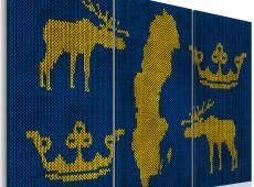 Kép - A Svéd Királyság - triptych