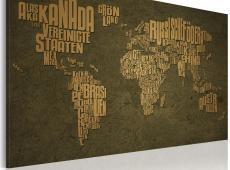 Kép - A térkép a világ, német nyelv: Beige kontinensen