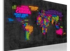Kép - A térkép a világ - Olaszul egyes országok nevét