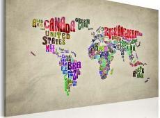 Kép - A térkép of the World - angol nevének országok