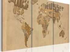 Kép - A világtérképen bézs és barna