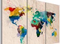 Kép - A World of színek - triptych