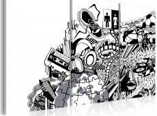 Kép - Artistic mess - triptych