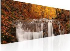 Kép - Autumn and waterfall
