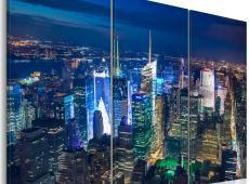 Kép - Bird´s eye view of New York City by night