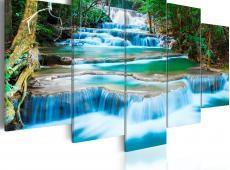 Kép - Blue Waterfall in Kanchanaburi, Thailand