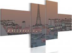 Kép - Dusk and Paris
