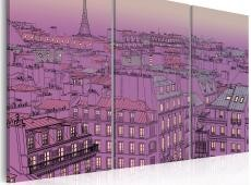 Kép - Eiffel Tower in lilac colour