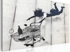 Kép - Falling woman with supermarket trolley (Banksy)