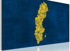 Kép - Festett térképe Svédország
