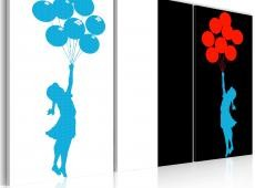 Kép - girl, balloons (pop art)