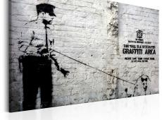 Kép - Graffiti Area (Police and a Dog) by Banksy