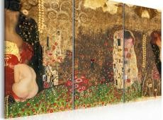 Kép - Gustav Klimt - inspiration, Triptych