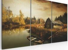 Kép - Idyllic village - triptych