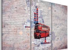 Kép - Körül a Nagy-Britannia által Routemaster - triptych