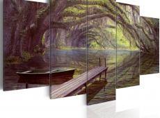 Kép - Landscape, lake and trees