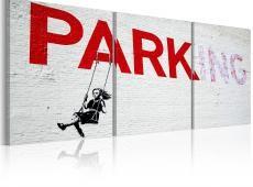 Kép - Lány a swing (Banksy)