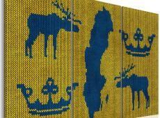 Kép - Map of the World: pulóver Svédországból - triptych