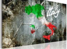 Kép - Művészi térkép Olaszország