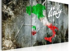 Kép - Művészi térkép Olaszország - triptych
