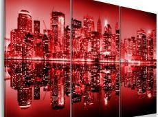 Kép - New York- Big Apple in vivid red