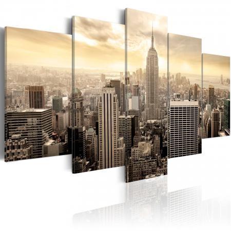 Kép - New York and sunrise