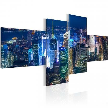 Kép - New York in indigo colour