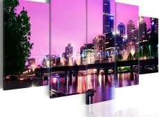 Kép - Night urban city skyline - Melbourne