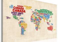 Kép - Olasz nevek országok élénk színekben