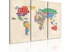 Kép - Olasz nevét országok élénk színek - triptych