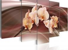 Kép - Orchid flowers on a wavy background