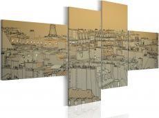 Kép - Over the roofs of Paris (retro)